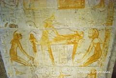 Mummification (konde) Tags: 18thdynasty newkingdom mayaandmeryt saqqara tomb mayaandmerit ancient anubis isis nephtys nepthys goddess mummy relief hieroglyphs shenring