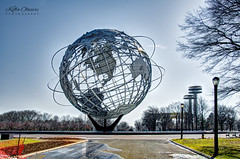 World's Fair - The Unisphere (Kofla Olivieri) Tags: adobephotoshopelements worldsfair koflaolivieri queens newyork unisphere nyc photomatixprohdr landmark flushingmeadowscoronapark