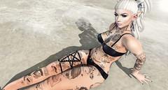 B e a c h. (Rokote) Tags: sl second life goth tattoos beach