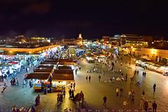 A corner of Djemaa el Fna (T Ξ Ξ J Ξ) Tags: morocco marrakesh djemaaelfna d750 nikkor teeje nikon2470mmf28 street store night market