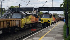 Colas Class 70 Crossover... (KLTP17) Tags: 70813 70810 colas class70 engineering gwr ealing 6c20 6c21