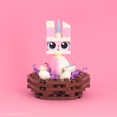 Happy Easter! (powerpig) Tags: lego unikitty bunny nest egg easter