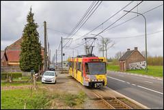 01-04-17 TEC 7412, Fontaine-l'Évêque - Rue de Mons (Julian de Bondt) Tags: anderlues tec bn tram metro leger charleroi