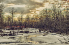Worrying is like praying for something you don't want (Paul B0udreau) Tags: canada d5100 layer nikon nikond5100 ontario paulboudreauphotography jordan ballsfalls water sunlight ice winter photoshop nikkor50mm18