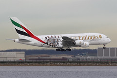 "A6-EOD | Airbus A380-861 | Emirates (special ""Real Madrid"" colours) (cv880m) Tags: newyork airplane airliner jetliner aircraft jfk kjfk kennedy a6eod airbus a380 388 380861 emirates dubai uae madrid realmadrid ronaldo soccer football"
