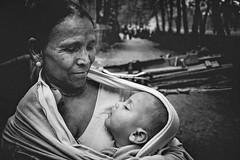 DSC02182 (Amlan Sanyal) Tags: india incredibleindia woman children mother motherhood sony blackandwhite streetphotography candid siliguri amlan