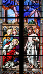 Easter Thursday (Lawrence OP) Tags: biblical resurrection lille apostles jesuschrist risen lord sacrecoeur stainedglass window