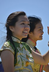 Smiles On Parade (swong95765) Tags: women ladies smile wave parade cultural costume