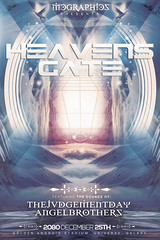 HEAVENS GATE (movingclays) Tags: adobe photoshop mcgraphics template poster flyer abstract art november halloween music festival edm electro techno uk heavens gate