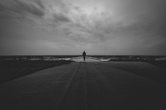 horizons. (jonathancastellino) Tags: architecture roof rooftop rooftopping abandoned derelict decay ruin ruins figure developer harrystinson standing horizon bct buffalo ny usa leica m cloud clouds gather curve train station distance