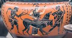 IMG_5236 (jaglazier) Tags: 2016 530bc500bc 6thcenturybc 72016 adults archaeologicalmuseums armor athena athens attic banditaccia bearded beards caere ceramics cerveteri clay copyright2016jamesaglazier crafts drawing earthware etruscan goddesses gravegoods greek greekkey herakles hercules hermes heroes italy ivy july july2016 lazio legends men museonazionaleetruscodivillagiulia museums myths nationalmuseums painting pottery religion rituals roma rome tomb1 women animals art barefoot blackfigure burialgoods caduceus cerberus clubs demigods dogs engraved funerary gods hats helmets imported infernal leashes mythical plants quivers spears weapons winged
