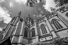 DSC00052 (Damir Govorcin Photography) Tags: blackwhite monochrome building architecture catholic worship religion wide angle natural light clouds sky zeiss 1635mm sony a7rii st marys cathedral sydney