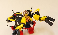 Handcart-Based Utility Mech / Worker's Walker (HBUMWW) (SuperLushFeverDream) Tags: lego legos moc mocs mech mecha legomech legomechs mechs mechsuit walker walkers toys