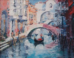 Art Oil Painting Picture Venice Italy (shadowbilgisayar) Tags: painting italy venice oil illustration modern tourism artwork italian canal pasty expressionism gondola gondolier water old arch building travel transport architecture wall art artistic wallpaper bright picture colorful style color vintage city town beauty romantic traditional knife europe bridge cityscape boat pictorial famous canvas palette noon venetian ukraine