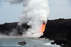 Lava Tours (Geoff Sills) Tags: lava tours magma firehose volcanoes national park hawaii pacific ocean tour boat smoke plume adventure travel photography cliff dangerous