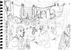 Au Bistrot de Mémé, à La Rochelle, hier (Croctoo) Tags: croctoo croquis croctoofr crayon charentemaritime restaurant