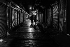 love is the only way / back on my streets (Özgür Gürgey) Tags: 2017 50mm bw d750 eminönü nikon evening lines lowlight shadows street istanbul turkey love friendship