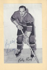 1944-63 NHL Beehive Hockey Photo / Group II - BILLY REAY (Centre) (b. 21 Aug 1918 - d. 23 Sep 2004 at age 86) - Autographed Hockey Card (Montreal Canadiens) (#282) (Baseball Autographs Football Coins) Tags: hockey beehive 1934 1967 19341967 groupi groupii groupiii woodgrain torontomapleleafs bostonbruins newyorkrangers montrealcanadiens chicagoblackhawks detroitredwings montrealmaroons newyorkamericans card photos hockeycards brooklynamericans nationalhockeyleague nhl billyreay centre center coach