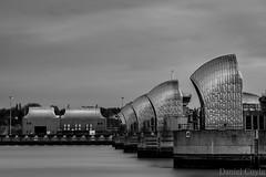 Thames Barrier (Daniel Coyle) Tags: thamesbarrier thames river riverthames centrallondon london longexposure nikon d7100 nikond7100 danielcoyle water blackandwhite bw