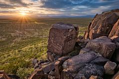 Three Rivers Petroglyph Site, New Mexico (www.clineriverphotography.com) Tags: newmexico sunrisesunset threeriverspetroglyphsite peoples rockart jornadamogollan petroglyph location usa 2014 light