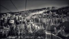 Mont Tremblant (vwcampin) Tags: iphoneography iphoneographer iphonology iphoneology iphone gondola rooftop rooftops trees village town resort ski bokeh buildings quebec canada monttremblant tremblant
