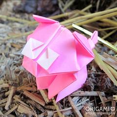Cute Origami Pig (origami.plus) Tags: origami pig cochon cerdo origamipig