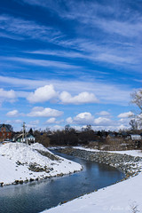Spring beauty (anton_frolov) Tags: river twisty houses buildings stones water sky cloud clouds blue outdoor landscape nature tomsk russia sony a6000 snow wonderfulworld