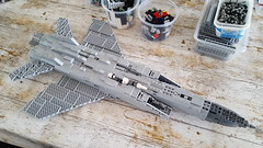 Mikoyan Gurevich MiG-31BM Foxhound WIP - 2 (Kenneth-V) Tags: aircraft airplane aviation airforce air mikoyan gurevich mig mig31 mig31bm foxhound russian military model moc lego 136 wip war cold modern age fighter interceptor planes plane scale