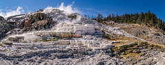 Palette Spring, Mammoth Hot Springs area, Yellowstone National Park, Wyoming (www.clineriverphotography.com) Tags: usa hotspring travertine aspect panorama spring palettespring geothermal 2012 location mammothhotsprings yellowstonenationalpark wyoming