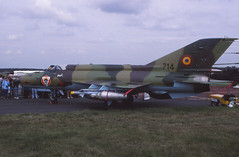MiG-21 Lancer (Pentakrom) Tags: sbac farnborough 1996 mikoyan mig21 lancer fishbed romanian air force elbit