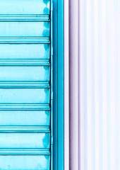 abstractionism (Lunor 61) Tags: abstract abstrakt minimal minimalismus minimalistisch minimalism urban facade fassade lines linien textures symmetry symmetrie graphic tones bleu rose white ireneeberwein architecture architektur