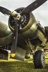 WWII B-17 bomber Texas Raiders (calkothrade2) Tags: b17bomber warbirrd wwii eighth airforce aviation chrome blue sky clouds propeller guns cannons texas raiders
