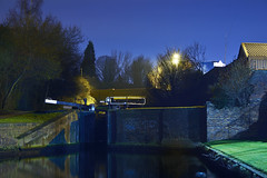 The Walsall Canal, Wolverhampton Road, Walsall 19/02/2017 (Gary S. Crutchley) Tags: uk great britain england united kingdom urban town townscape walsall walsallflickr walsallweb black country blackcountry staffordshire staffs west midlands westmidlands nikon d800 history heritage local night shot nightshot nightphoto nightphotograph image nightimage nightscape time after dark long exposure evening travel street slow shutter raw 1635mm f40g af s ed nikkor canal navigation cut inland waterway bcn narrowboat lock junction wyrley and essington canalscape scape