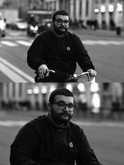 [La Mia Città][Pedala] (Urca) Tags: milano italia 2017 bicicletta pedalare ciclista ritrattostradale portrait dittico bike bicycle biancoenero blackandwhite bn bw 993142 nikondigitale scéta