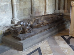 14th Century Bishop (Aidan McRae Thomson) Tags: worcester cathedral worcestershire medieval sculpture carving effigy tomb monument
