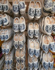 Wooden shoes in blue, Monnikendam, The Netherlands (hjreitsma) Tags: shoe shoes clog clogs wood wooden traditional