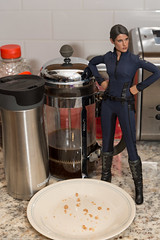 """I'm Gonna Kick Coulson's Ass for Eating My Donut Again"" (edwicks_toybox) Tags: 16scale agentofshield cobiesmulders mariahill femaleactionfigure hottoys marvel"