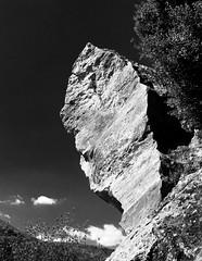 (Elruner) Tags: rock rocher lesféesmères lasource saintjeannet alpesmaritimes nature blackandwhite noireetblanc grimpe escalade