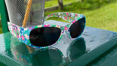 Found (LeftCoastKenny) Tags: pachecostatepark grass sunglasses plinth pencil wire cup