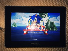 Sonic The Hedgehog 4 on the Blackberry Playbook #SEGA #Blackberry #Playbook (Dreamcasting Life) Tags: sega blackberry playbook