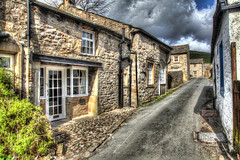 IMG_3235_6_7_paint4_a_800 (band68uk) Tags: cottages street road brick windows kettlewell north yorkshire hdr canon eos 5dmark2