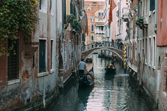 Quintessential Venice (V Photography and Art) Tags: venicecanal venice bridge gondola gondolier buildings facade