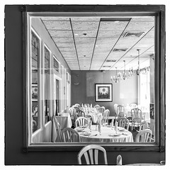 Alberto's for Lunch (Timothy Valentine) Tags: 0417 blackandwhite window large capecod wednesday 2017 silverefex barnstable massachusetts unitedstates us