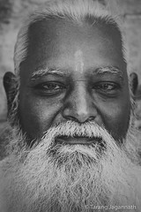 People on the road - 365 Portrait Project - Day 109 (Tarang Jagannath) Tags: 365portrait face blackandwhite bw beard old age frontface