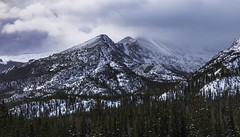 Winter Clouds on Longs Peak (Matt Thalman - Valley Man Photography) Tags: colorado nationalpark rmnp rockymountainnationalpark clouds cloudy cold cool fog foggy forest landscape longspeak mountain mountains sky snow snowscape snowy trees winter