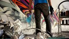 'Me Against the Wall' (snuzstillfree) Tags: graffiti walls spraypaint montanablack letterspower snuz stillfree meagainstthewall letters snuzstillfree