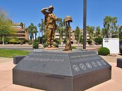 Phoenix, Arizona (Jasperdo) Tags: phoenix arizona roadtrip wesleybolinmemorialplaza memorial enduringfreedommemorial soldier statue