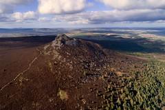 Bennachie from the air, Aberdeenshire (iancowe) Tags: mither tap bennachie mountain granite pictish hill fort ruin drone dji phantom 4 pro trig point trigpoint scotland scottish inverurie gordon aberdeenshire aerial heather