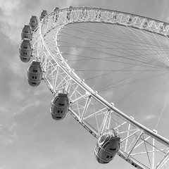 Abstract Eye (Number Johnny 5) Tags: lines tamron d750 nikon art pod abstract holiday fine 2017 angles londoneye ride white black 2470mm london monochrome noir april shapes minimal geometric