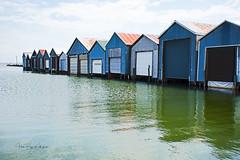 Boathouse Row (4thmedium) Tags: boathouses blue lake erie port rowan reflection